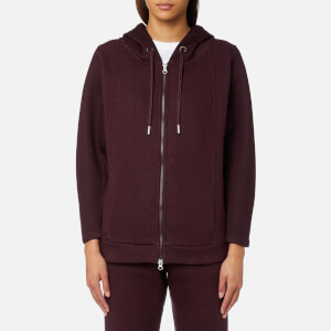 adidas by Stella McCartney Women's Essential Spacer Hoody - Deep Burgundy/Dark Burgundy