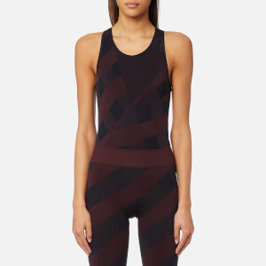 adidas by Stella McCartney Women's Training Seamless Bodysuit - Dark Burgundy/Legend Blue