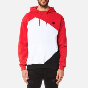 Versus Versace Men's Active Wear Hoody - Rosso/Nero/Bianco