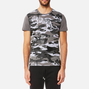 Versace Jeans Men's Tiger Camo Print T-Shirt - Grigio Medio