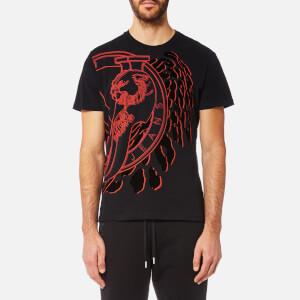 Versace Jeans Men's Large Contrast Logo T-Shirt - Nero