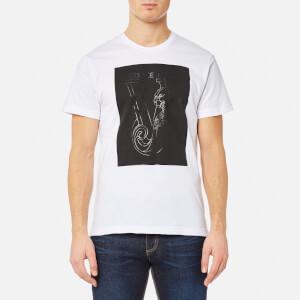 Versace Jeans Men's Chest Square Logo T-Shirt - Bianco Ottico
