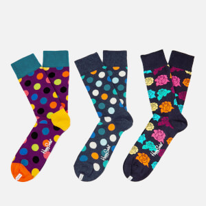 Happy Socks Mens Dots 3 Pack Socks - Multi - UK 7.5-11.5