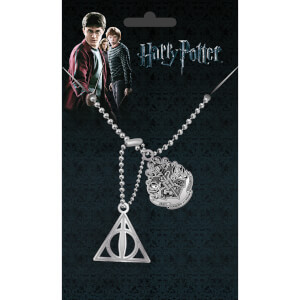 Harry Potter Crest and Hallows Dog Tag Pendant