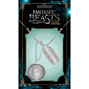 Fantastic Beasts and Where To Find Them Newt Dog Tag Pendant
