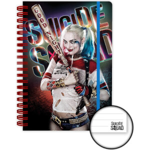 Suicide Squad Harley Quinn Good Night A5 Notebook