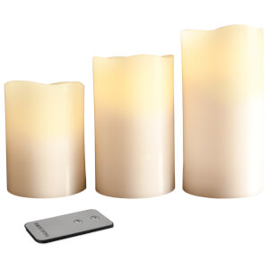 Anika LED Remote Control Flameless Candles (3 Pack)