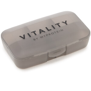 Vitality Pill Box – Black Steel