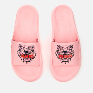 KENZO Women's Tiger Logo Slide Sandals - Flamingo Pink