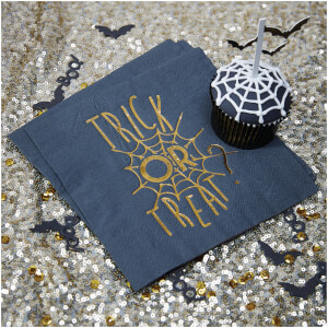 Ginger Ray Gold Foiled Halloween Napkins - Trick or Treat