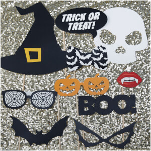 Ginger Ray Halloween Photo Booth Props - Trick or Treat
