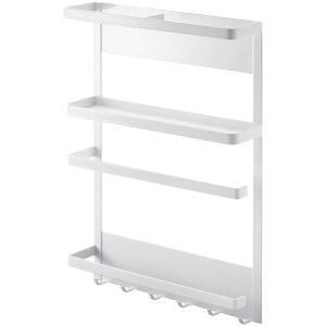 Yamazaki Tower Magnet Refrigerator Side Rack - White