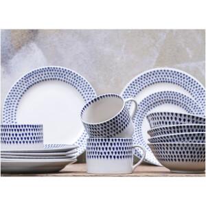 Nkuku Indigo Drop Dinner Plate - Cream and Indigo: Image 4