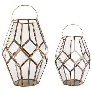 Nkuku Mohani Lantern - Silver - Small
