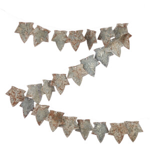 Nkuku Abari Garland Wire Leaf - Aged Zinc: Image 1