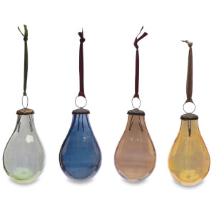 Nkuku Alura Pear Bauble - Multi Colours (Set of 4) - Large