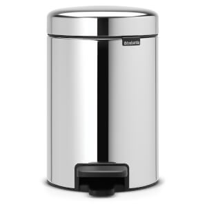 Brabantia New Icon 3 Litre Pedal Bin - Brilliant Steel