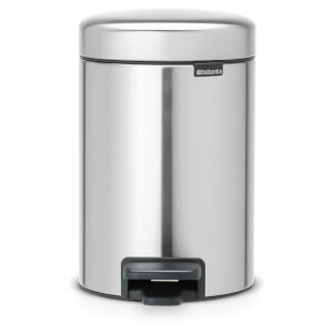 Brabantia New Icon 3 Litre Pedal Bin - Matt Steel Fingerprint Proof