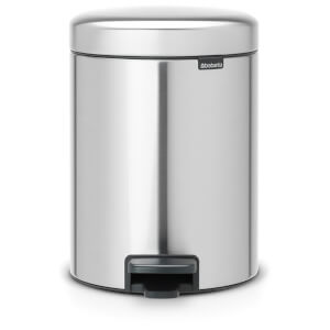Brabantia New Icon 5 Litre Pedal Bin - Matt Steel Fingerprint Proof