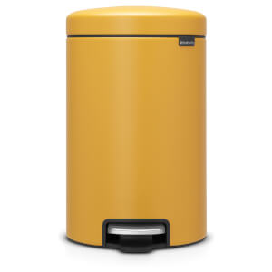 Brabantia New Icon 12 Litre Pedal Bin - Mineral Mustard Yellow