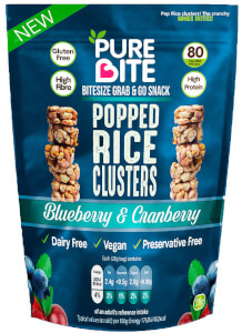 PureBite Popped Rice Clusters - Blueberry & Cranberry 20g