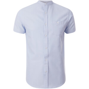 Brave Soul Men's Tribune Short Sleeve Shirt - Light Blue
