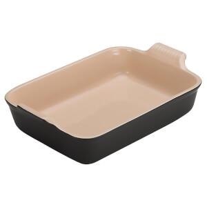 Le Creuset Stoneware Deep Rectangular Dish - 26cm - Satin Black