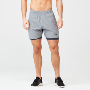 Power Shorts - Grey Marl - S