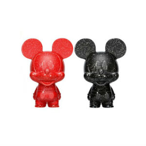 Disney Mickey Mouse Red and Black Hikari XS Vinyl Figure 2 Pack
