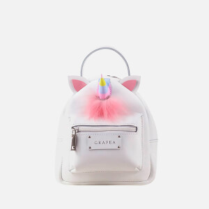 Grafea Women's Unicorn Mini Zippy Backpack - White