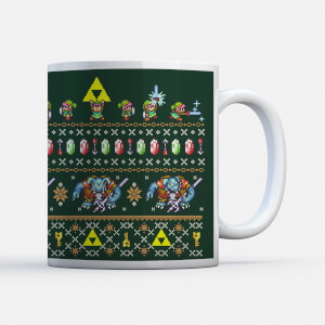 "Taza Navidad Nintendo Super Mario ""Link to the Christmas Past"""