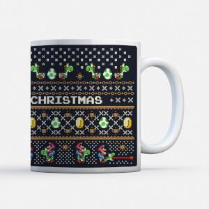 "Taza Navidad Nintendo Super Mario Yoshi ""Have A Merry Christmas"""