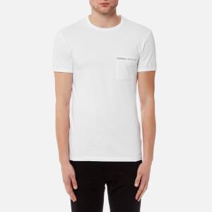 Versus Versace Men's Basic T-Shirt - Bianco Con Scritta