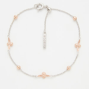 Olivia Burton Women's Moulded Bee and Ball Chain Bracelet - Silver and Rose Gold