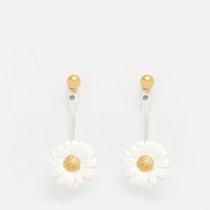 Olivia Burton Women's Daisy Jacket Earrings - Silver and Gold
