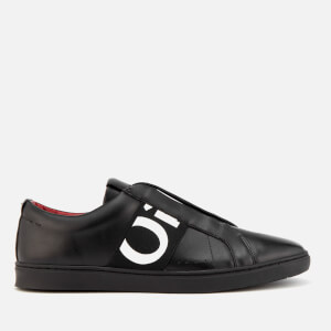 HUGO Men's Post Futurism Leather Slip-On Trainers - Black