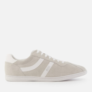 BOSS Orange Men's Rumba Suede Tennis Trainers - Light/Pastel Grey