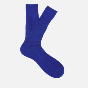 Pantherella Men's Danvers Classic Cotton Socks - Ultra Marine