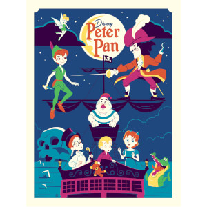 Affiche de Collection de Dave Perillo - Peter Pan Disney (457mm x 610mm)