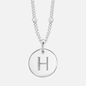 Missoma Women's Silver 'H' Initial Necklace - Silver