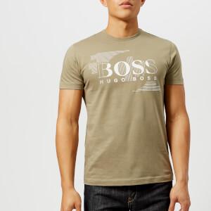 BOSS Green Men's Tee 1 Large Logo T-Shirt - Khaki