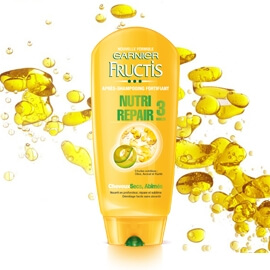 FRUCTIS Après-shampooing Nutri Repair 3 Huiles