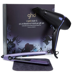 ghd Nocturne Collection Air Professional Hair Dryer and ghd V Gold Styler Gift Set - 2 Pin EU Plug