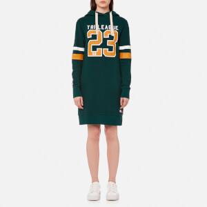 Superdry Women's Tri League Slouch Hood Dress - Pine