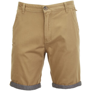 Brave Soul Men's Hansen Cham Chino Shorts - Stone