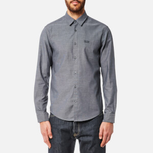 BOSS Green Men's C Buster Checked Shirt - Blue