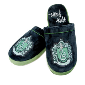 Harry Potter Men's Slytherin Slippers - Black