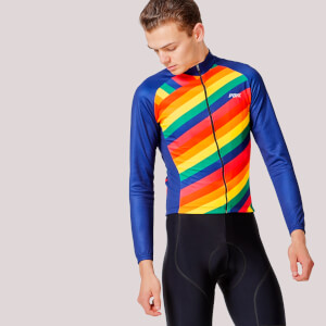 PBK Capra Winter Roubaix Jersey - Rainbow