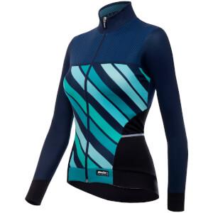 Santini Women's Coral 2 Winter Long Sleeve Jersey - Blue