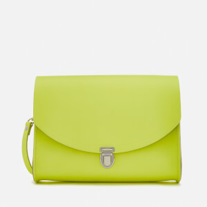 The Cambridge Satchel Company Women's Large Push Lock Bag - Neon Yellow